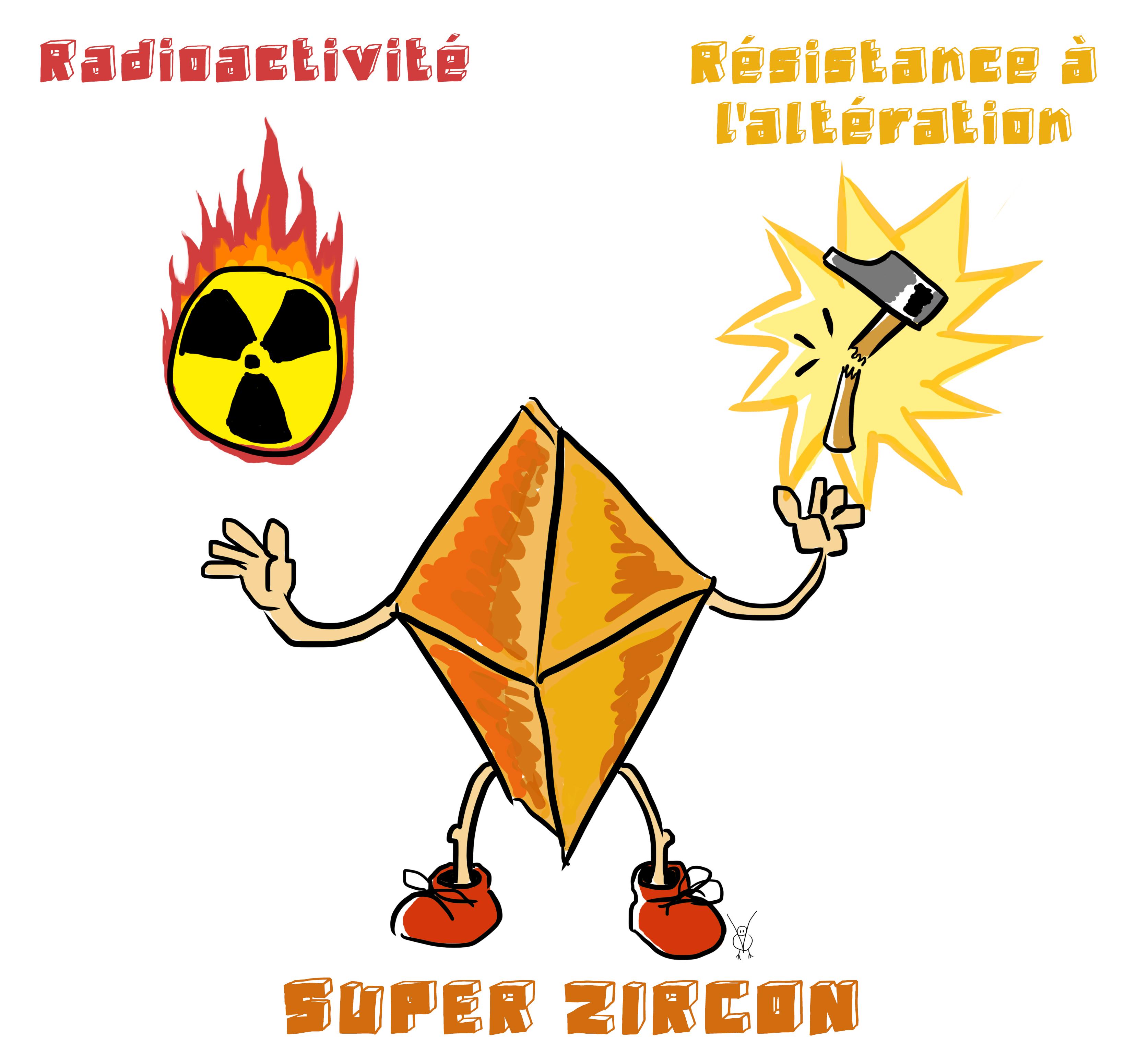 Résistance à l'altération et radioactivité sont les deux mamelles du zircon.