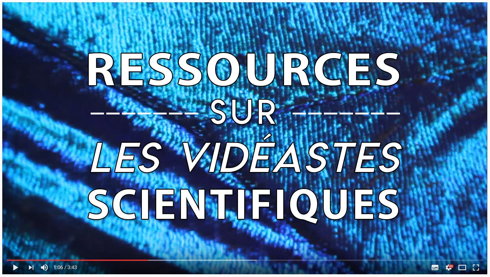 Liste de liens utiles, ressources et références bibliographiques sur Youtube, les youtubeurs scientifiques et les vidéastes scientifiques